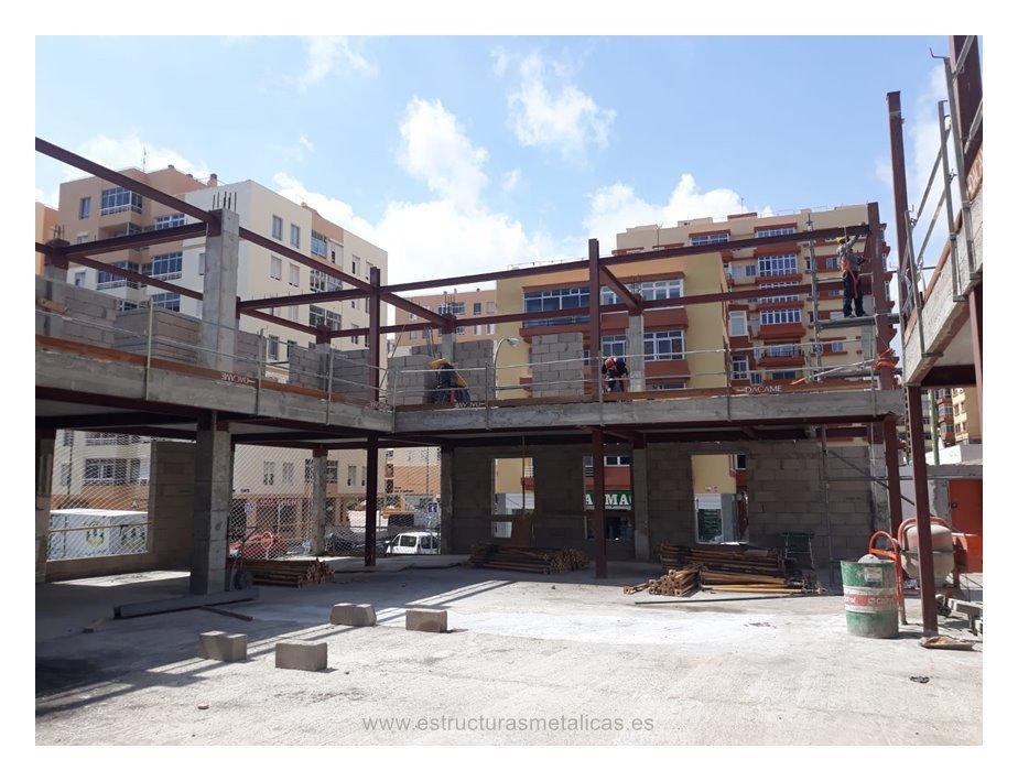 Estructura metálica en Industrial Miller Las Palmas